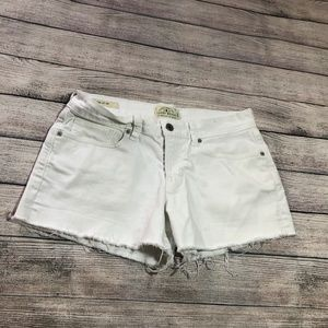 Lucky The Cut Off White Denim Shorts Size 2/26